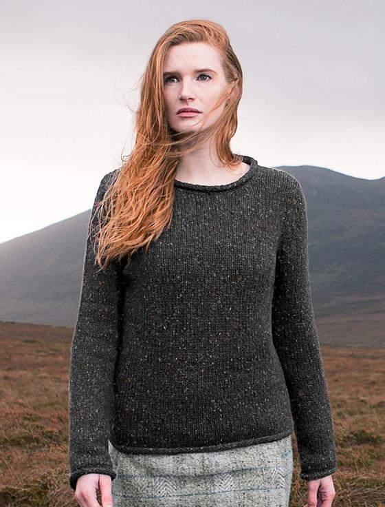Womens Roll Neck Sweater - Greystone