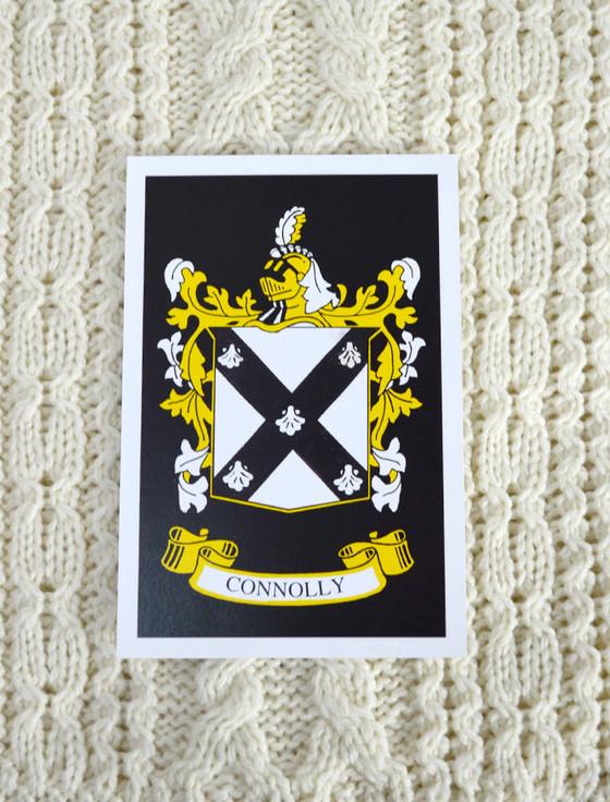 Connolly Clan Aran Throw