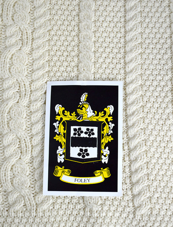 Foley Clan Aran Throw