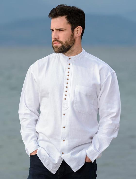 Grandfather Shirt - Plain White