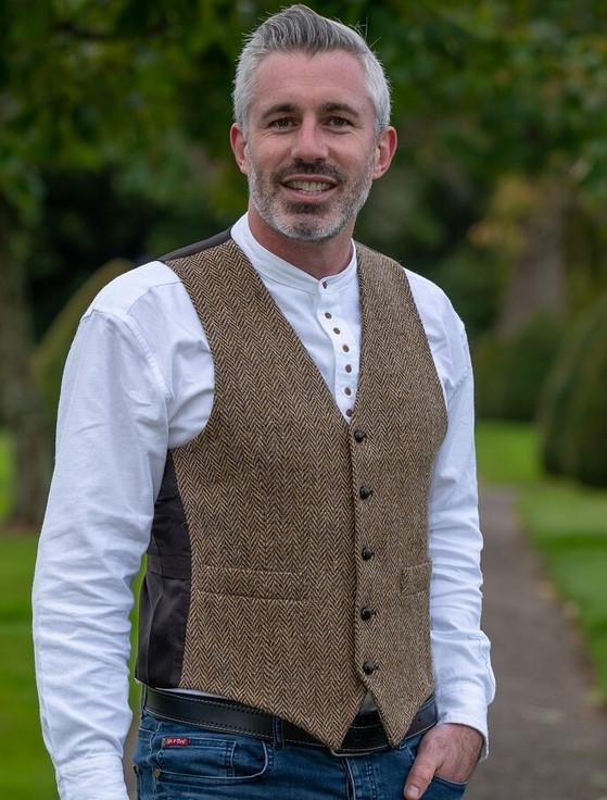 Donegal Tweed Waistcoat - Brown