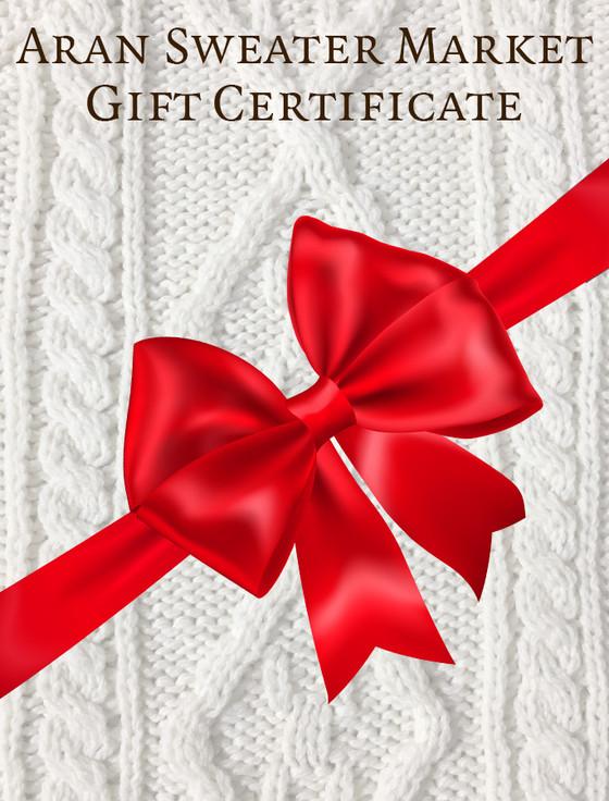 Aran Sweater Market Gift Certificate