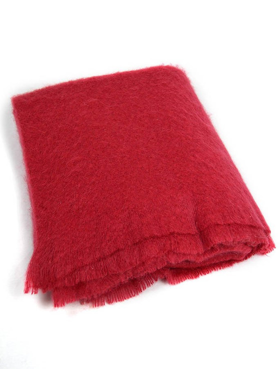 Mohair Throw - Tomato