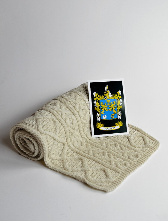 Fogarty Clan Scarf - Label