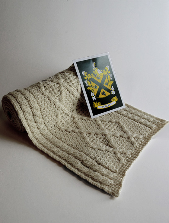 Purcell Clan Scarf - Label
