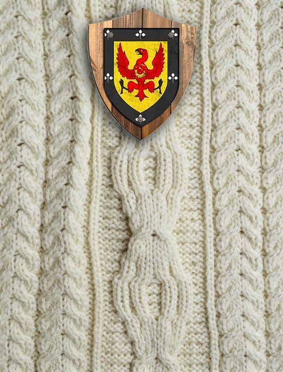 Mc Allister Clan Aran Throw