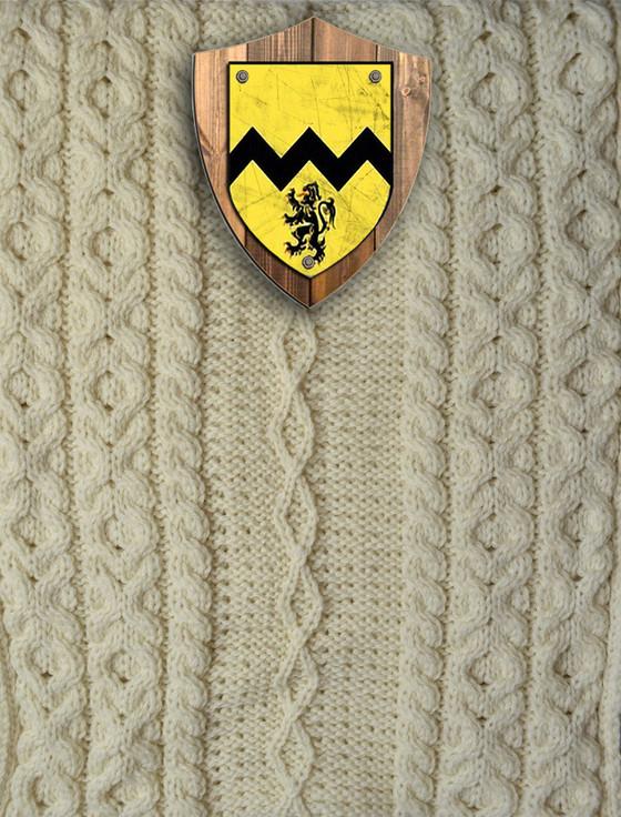 Morrissey Clan Aran Throw
