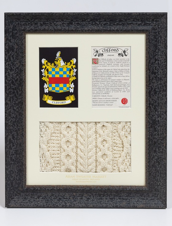 Clifford Clan Aran & History Display