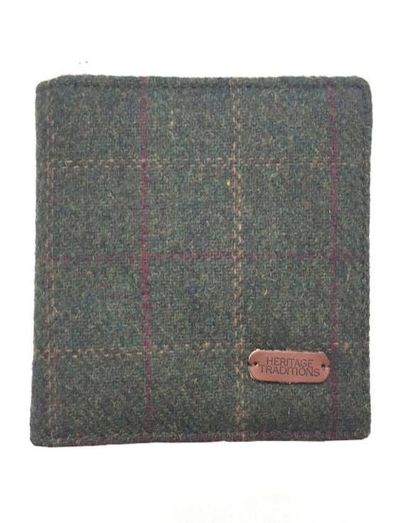 Tweed Wallet- Green Box Check