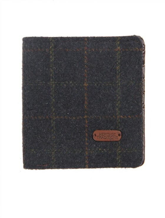 Tweed Wallet- Blue Box Check