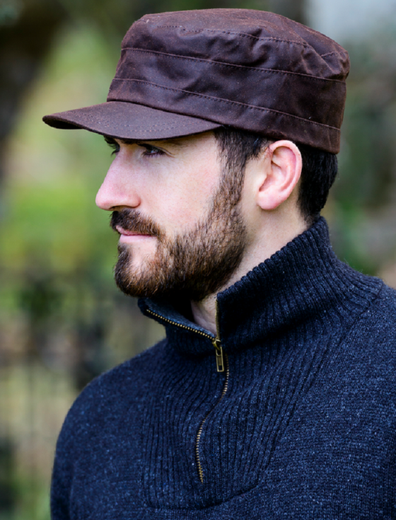 Fisherman Waxed Cap - Brown