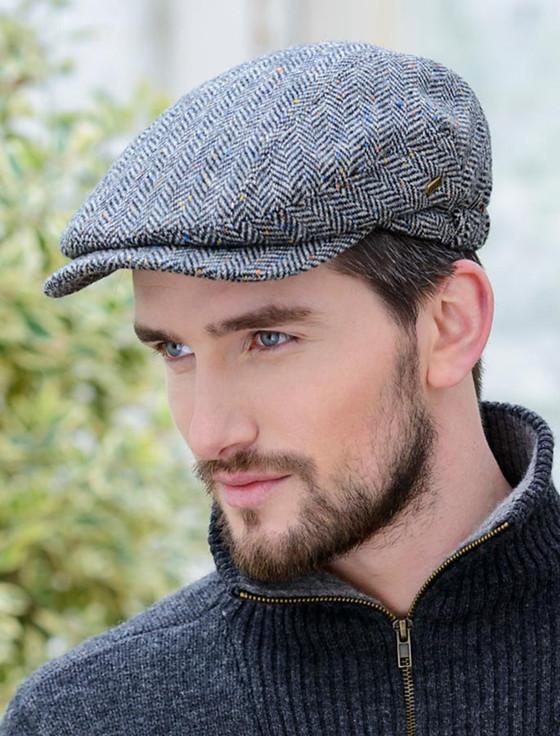Kerry Tweed Flat Cap - Grey