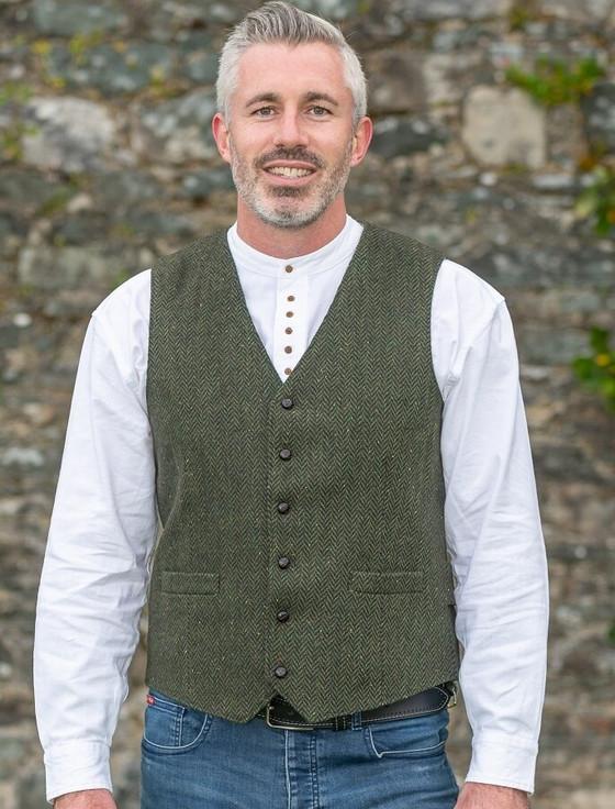 McDonagh Tweed Herringbone Wool Waistcoat