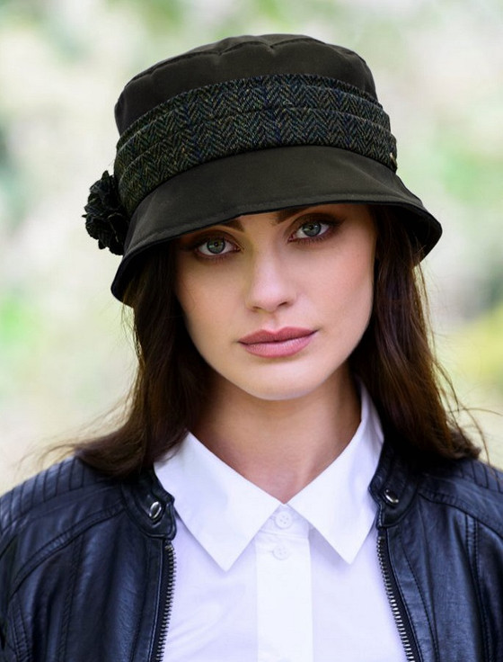 Kate Waxed Hat - Olive