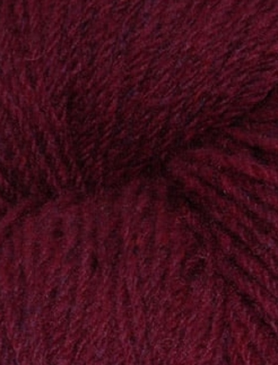Aran Wool Knitting Hanks - Plum Tweed