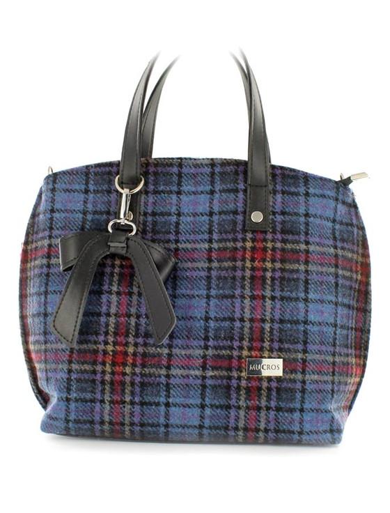 Niamh Tweed Bag - Blue Red Plaid