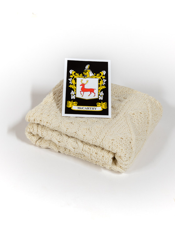 Mc Carthy Clan Aran Baby Blanket