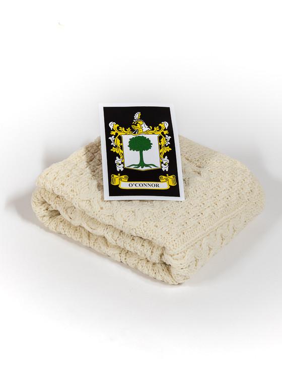 O'Connor Clan Aran Baby Blanket