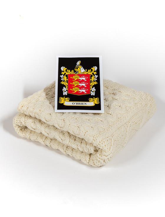 O'Brien Clan Aran Baby Blanket