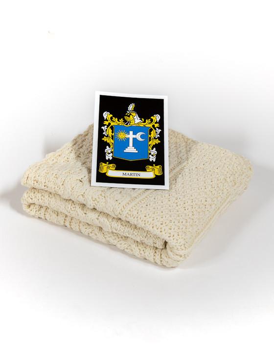 Martin Clan Aran Baby Blanket