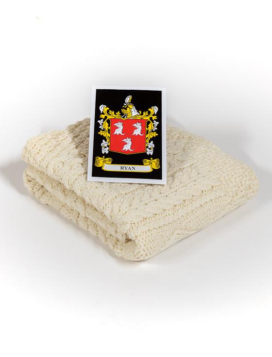 Ryan Clan Aran Baby Blanket
