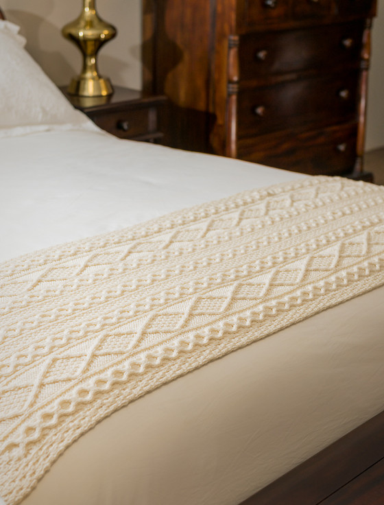 Kelly Clan Aran Bed Runner