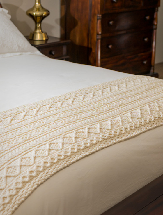 Walsh Clan Aran Bed Runner