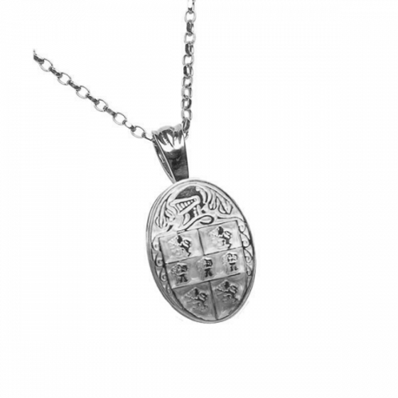 Murphy Clan Official Oval Pendant Sterling Silver
