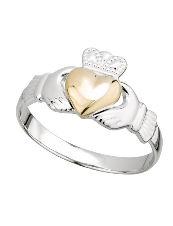 LADIES 10K GOLD CLADDAGH HEART RING