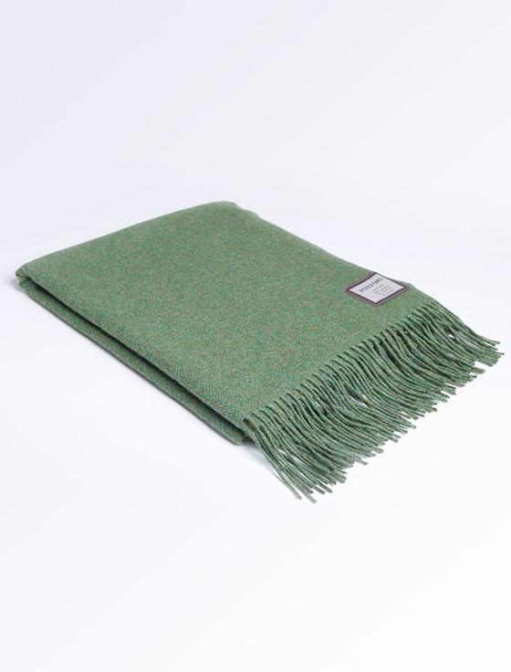 Lambswool Throw - Leaf Green