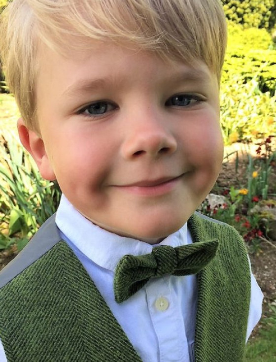 Boys Palm Green Herringbone Irish Tweed Bow-Tie