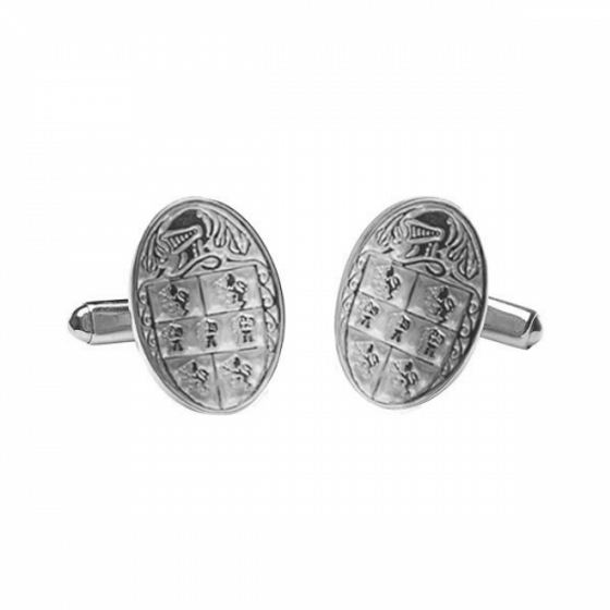 Murphy Clan Official Large Cufflinks Sterling Silver