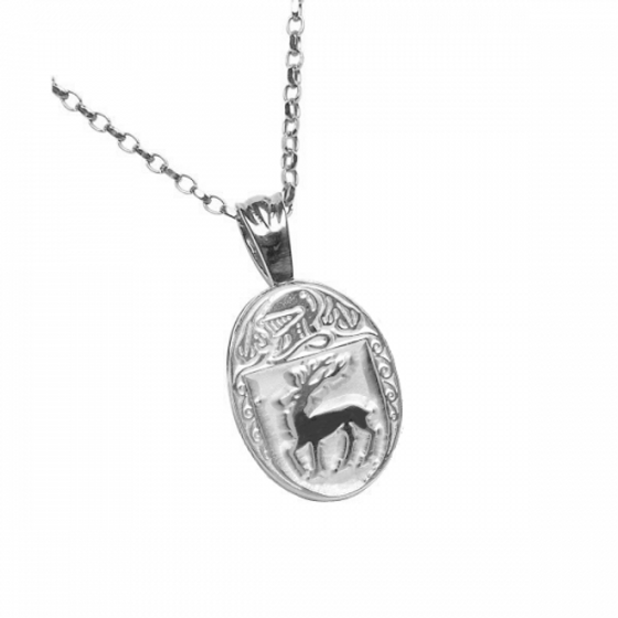 McCarthy Clan Official Oval Pendant Sterling Silver