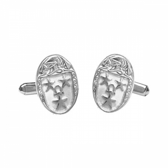 Murray Clan Official Large Cufflinks Sterling Silver