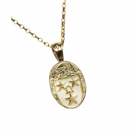 Murray Clan Official Oval Pendant 10K Gold