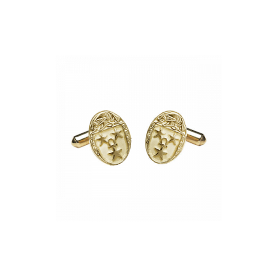 Murray Clan Official Medium Cufflinks 10K Gold