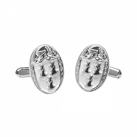 Ryan Clan Official Large Cufflinks Sterling Silver