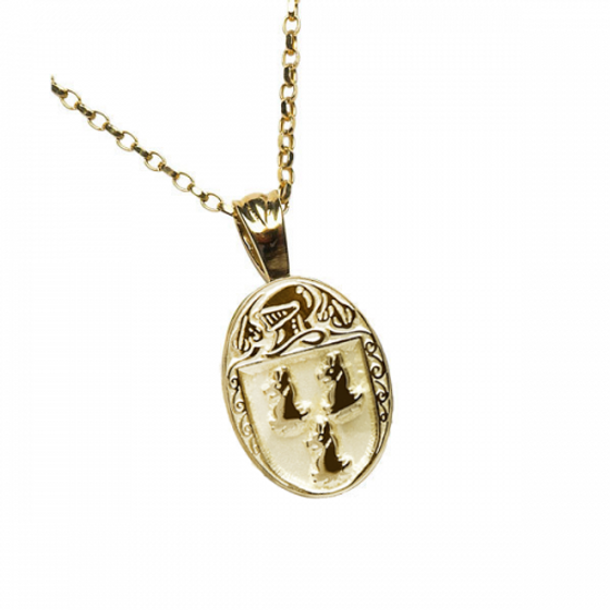 Ryan Clan Official Oval Pendant 10K Gold