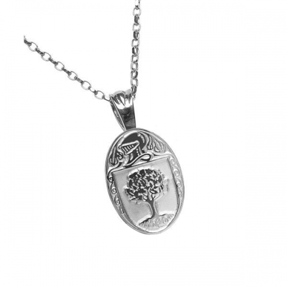 O'Connor Clan Official Oval Pendant Sterling Silver
