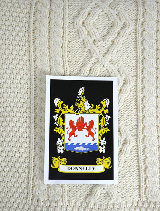 Donnelly Clan Aran Bed Runner