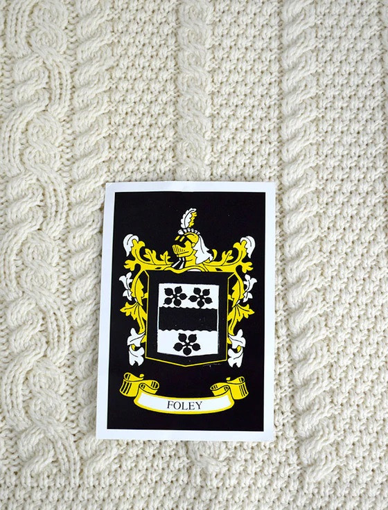 Foley Clan Aran Bed Runner
