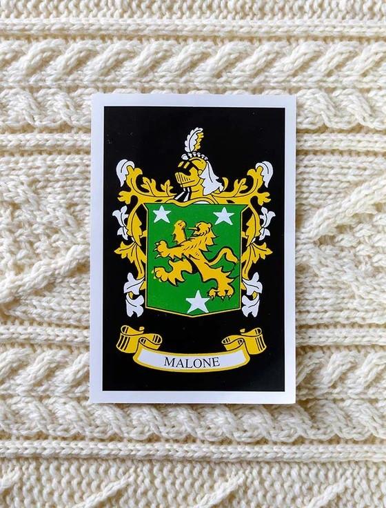 Malone Clan Aran Bed Runner