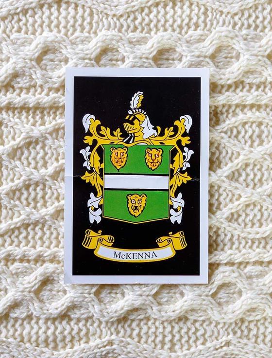 Mc Kenna Clan Aran Bed Runner