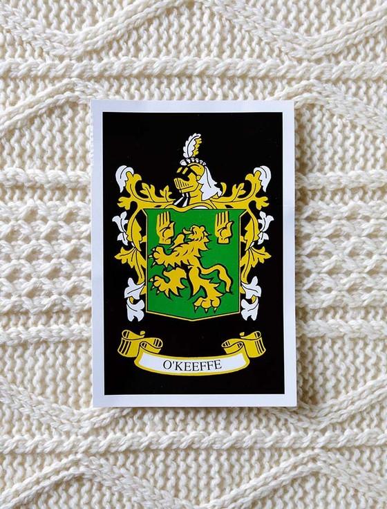 O'Keeffe Clan Aran Bed Runner