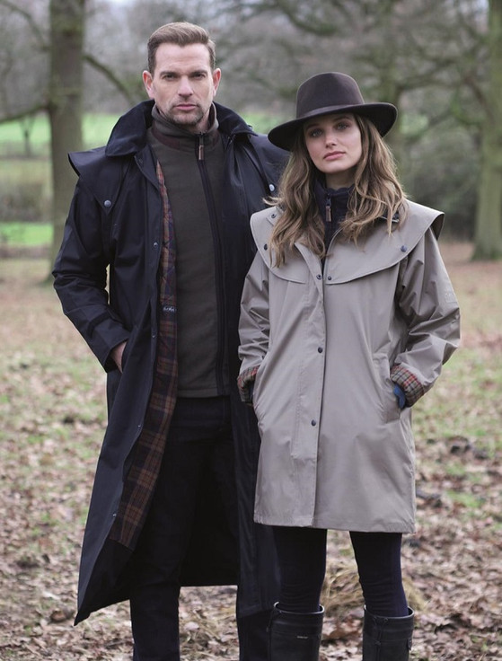 Donegal Mens Waterproof Long Bush Coat - Navy