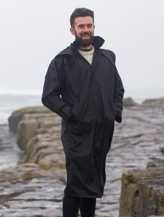 Donegal Men's Waterproof Bush Coat - Black