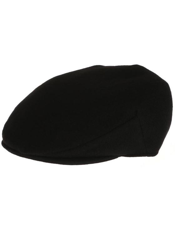 Vintage Tweed Flat Cap - Solid Black