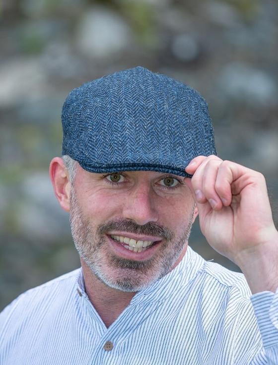Donegal Touring Cap - Blue Herringbone