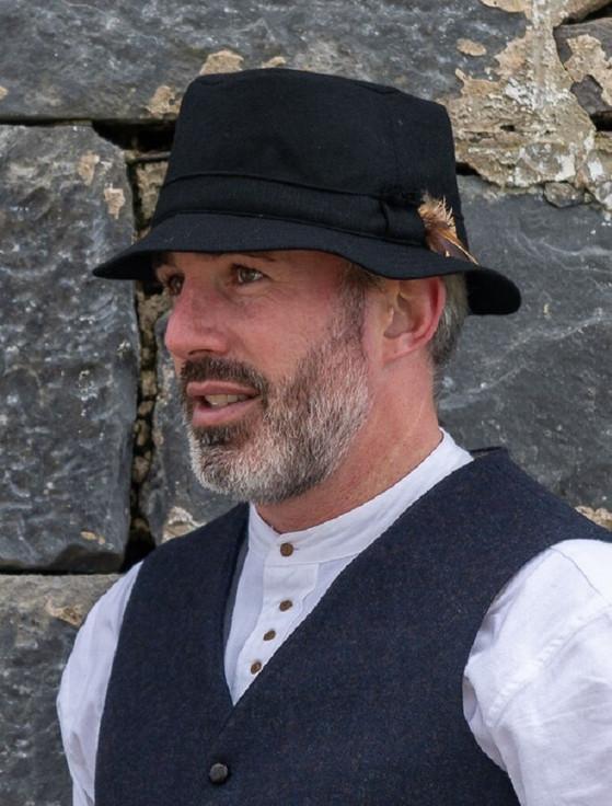 Tweed Walking Hat - Black