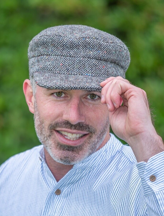 Tweed Skipper Cap- Granite Grey Salt & Pepper